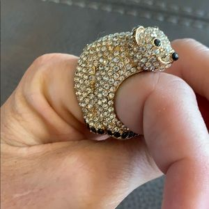 Kate Spade crystal polar bear ring